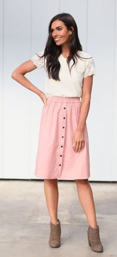 9639041045d3 16 Best pink skirt outfits images in 2019