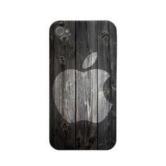 iPhone 4 Cover, iPhone 4s Case, iPhone 4 Hard Case, iPhone Case, iPhone case decoupage, hard iPhone 4 case - Apple Dark Wood. $19.50, via Etsy.