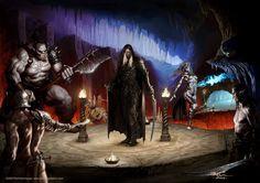 m Drow Elf Ranger vs Drow & Ogre underdark shrine Drizzt