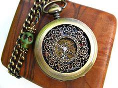 Airship Pirate Pocket Watch Filigree Engraved door ArtInspiredGifts, $47.00