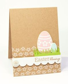Easter blessings by Lisa Lisa - Cards and Paper Crafts at Splitcoaststampers Diy Easter Cards, Diy Cards, Handmade Easter Cards, Easter Projects, Easter Crafts, Easter Ideas, Diy Projects, Creative Cards, Scrapbook Cards