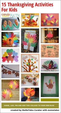 15 Thanksgiving Activities For Kids @Kelsey Myers Myers Myers Jackson @Casey Dalene Dalene Dalene Newth
