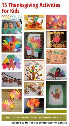 15 Thanksgiving Activities For Kids @Kelsey Myers Jackson  @Casey Dalene Newth