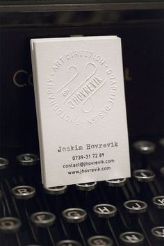 Unique Business Card, Joakim Hovrevik #BusinessCards #Design (http://www.pinterest.com/aldenchong/)