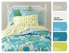 I love these colors for her ! Chip It! by Sherwin-Williams – Rachel's Room