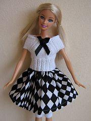 Ravelry: #0368 Top & Skirt pattern by stickatillbarbie.se