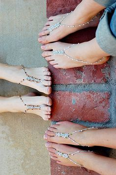 Barefoot Sandals  WEDDING PACKAGE FOR 5  Foot by FancyFeetSandals, $50.00
