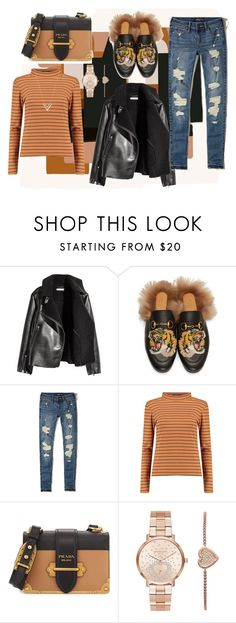 """""""Untitled #804"""" by brandi-gurrola on Polyvore featuring ferm LIVING, Gucci, Hollister Co., Boohoo, Prada, Michael Kors and Louis Vuitton"""