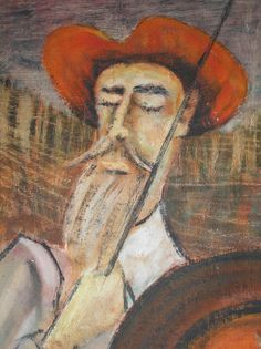 Unknown Painting of Don Quixote. Refer to painting before allowing yourself a Quixotic moment.