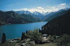 Tian Lake is located high in the mountains of the eastern Tien Shan range, in the Uygur Autonomous Region of Xinjiang of far western China.