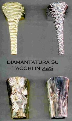 Tacchi lavorati a mano con diamante, utilizzato nel settore calzaturiero da Griffe leader in tutto il mondo.