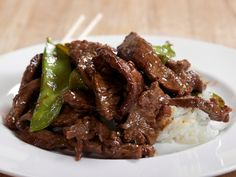 Beef with Snow Peas from FoodNetwork.com