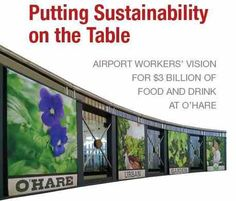 Food Workers at O'Hare Airport Recommend Sustainable Food Options in New Report
