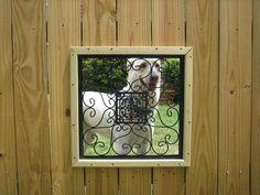 Dog Fence Window...Fancy
