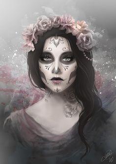 Día de la muerte.. pintura