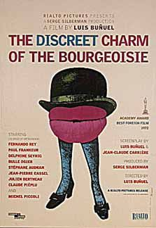 The Discreet Charm of the Bourgeoisie by Luis Bunuel