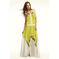 BCBGMAXAZRIA -   RUNWAY BRYONNA COLOR-BLOCKED SILK DRESS - gorgeous