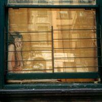Helen Levitt :: Girl in window, orange reflection, New York, 1972 / src: ricecracker 'Since I'm inarticulate, I express myself with images. New York Street, New York City, Helen Levitt, Street Photographers, Windows, Artist, Pomegranate, Cities, Reflection