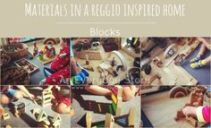 Materials in a Reggio-inspired Home: Blocks I really think blocks are the epitome of open-ended materials. They allow a child to express their own creativity while making designs, constructions and sculptures. Blocks require a child to think creatively, problem solve, negotiate and invent. They learn about concepts of balance, stability and symmetry through trial and error as they construct their buildings.  Here's some thoughts on extending block play as well as a list of our blocks.