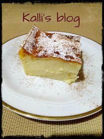 Kalli's blog: Γαλατόπιτα Μεσσηνιακή( χωρίς φύλλο) (in English too) Greek Sweets, Greek Desserts, Pita Recipes, Greek Recipes, Greek Pastries, Custard Cake, Chocolate Sweets, Sweet Pie, Sweet And Salty