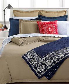 Lauren Ralph University Chino Bedding Collection Tan Bedroom Dream Full Duvet Cover