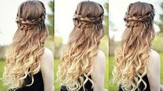 medieval hair with curls - YouTube