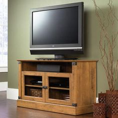 "Love the look of this 42"" TV console and the price is right - under $150!!"