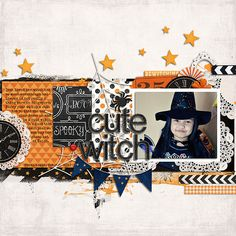 #papercraft #scrapbook #layout Cute Witch - Scrapbook.com