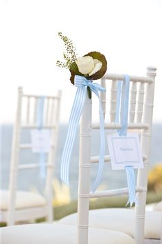 Greece Wedding by White Ribbon Boutique Events Coordination Wedding Ceremony Decorations, Wedding Themes, Our Wedding, Dream Wedding, Wedding Chairs, Wedding Seating, Event Planning Tips, Event Ideas, Party Ideas