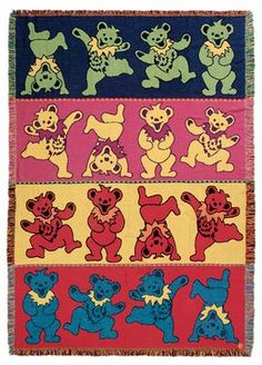 Grateful Dead - Dancing Bears Woven Blanket