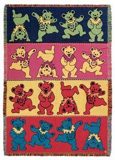 Grateful Dead - Dancing Bears Woven Blanket
