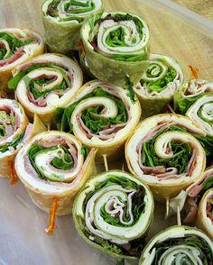Ratty Gourmet: Rainbow Pinwheel Sandwiches