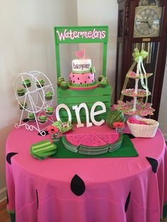 Birthday Ideas for Girls Awesome Pin Od Adrianne Tibbitts Na Tayje Birthday - Laura Holderman - Birthday Party Baby Shower Watermelon, Watermelon Birthday Parties, 1st Birthday Party For Girls, 1st Birthday Decorations, Girl Birthday Themes, Birthday Ideas, Watermelon Party Decorations, Watermelon Decor, Partys
