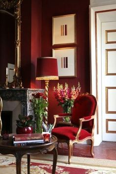 Decor home red interior design Ideas for 2019 Red Interior Design, Home Interior, Interior And Exterior, Interior Decorating, Luxury Interior, Interior Office, Luxury Furniture, Decorating Ideas, Red Home Decor