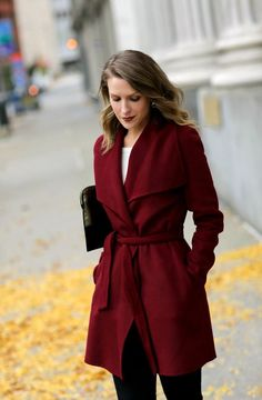 Belted wrap winter coat like this (size 0 or x-small, not petite)
