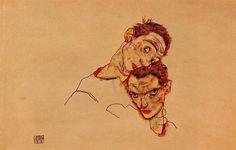 ←  → Double Self Portrait Egon Schiele Date: 1915; Vienna, Austria Style: Expressionism Genre: self-portrait Media: watercolor, paper Location: Private Collection