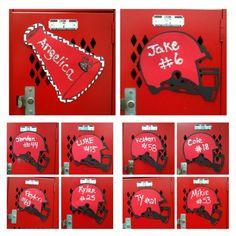 cheerleading locker decorations. Redo of our 2nd week locker decorations because the boys didn t get a  chance Football CheerleadingCheerleading 25 DIY Locker Decor Ideas for More Cooler Look