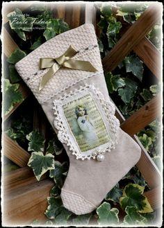 Victorian Stocking By Paula Tidman