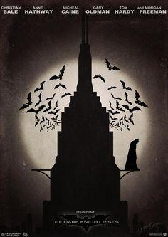 The Dark Knight Rises By Gautam Singh Rawat, movie poster
