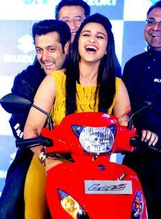 Salman Khan and Parineeti Chopra at an event hosted by Suzuki India #Style #Bollywood #Fashion #Beauty