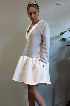 Greek Fashion, Look After Yourself, Sweatshirt Dress, Cosy, Fashion Brands, White Dress, Warm, Sweatshirts, Fabric
