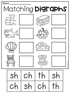 Sh Worksheets for Kindergarten. 20 Sh Worksheets for Kindergarten. Digraph Worksheet Packet Ch Sh Th Wh Ph Teaching Phonics, Preschool Learning, Kindergarten Worksheets, Teaching Reading, In Kindergarten, Learning Activities, Teaching Kids, Math Literacy, Phonics Activities