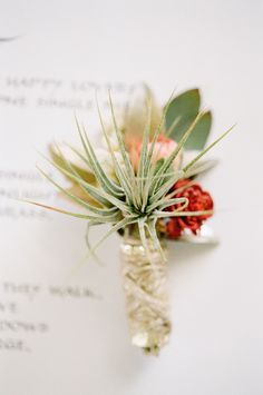 #boutonniere Photography by josevillaphoto.com  Read more - http://www.stylemepretty.com/2012/12/10/joshua-tree-elopement-from-jose-villa-photography-kristeen-labrot-events/