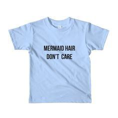 Girls mermaid shirt, bohemian style. Mermaid Hair Don't Care. Kids beach summer fashion