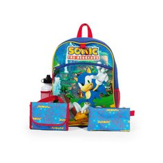 Kids Sonic the Hedgehog 5-pc. Backpack & Lunch Box Set, Red