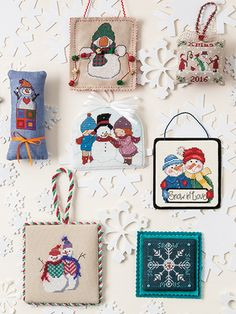 The most anticipated cross-stitch special issue of the year,  Just CrossStitch 's Christmas Ornaments issue is a must-have. The 70 cross-stitch ornament designs inside are perfect for all skill levels, using popular fabrics, Cross Stitch Christmas Ornaments (aff link)