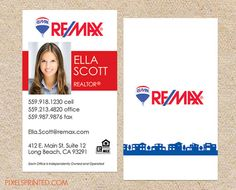 Real estate business cards california map by realestatedesigns remax real estate business cards thick color both sides free ups ground shipping reheart Choice Image