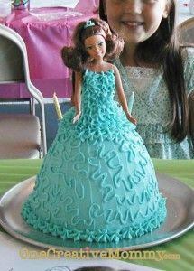 Frosted Princess Cake Tutorial from OneCreativeMommy.com