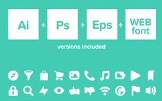 +20 Free Icon Fonts For Designers