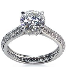 Micro-Pavé Engagement Ring | Diamond Ideals